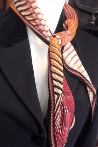 foulard plissé vintage
