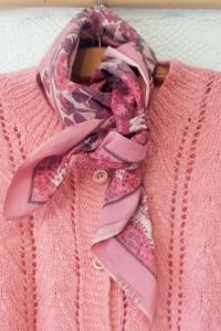 gilet rose foulard (2)