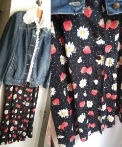 jupe fraises x2
