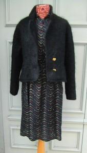 veste mohair noire