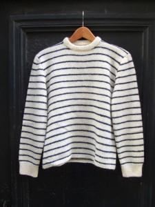 pull marin tricoté main