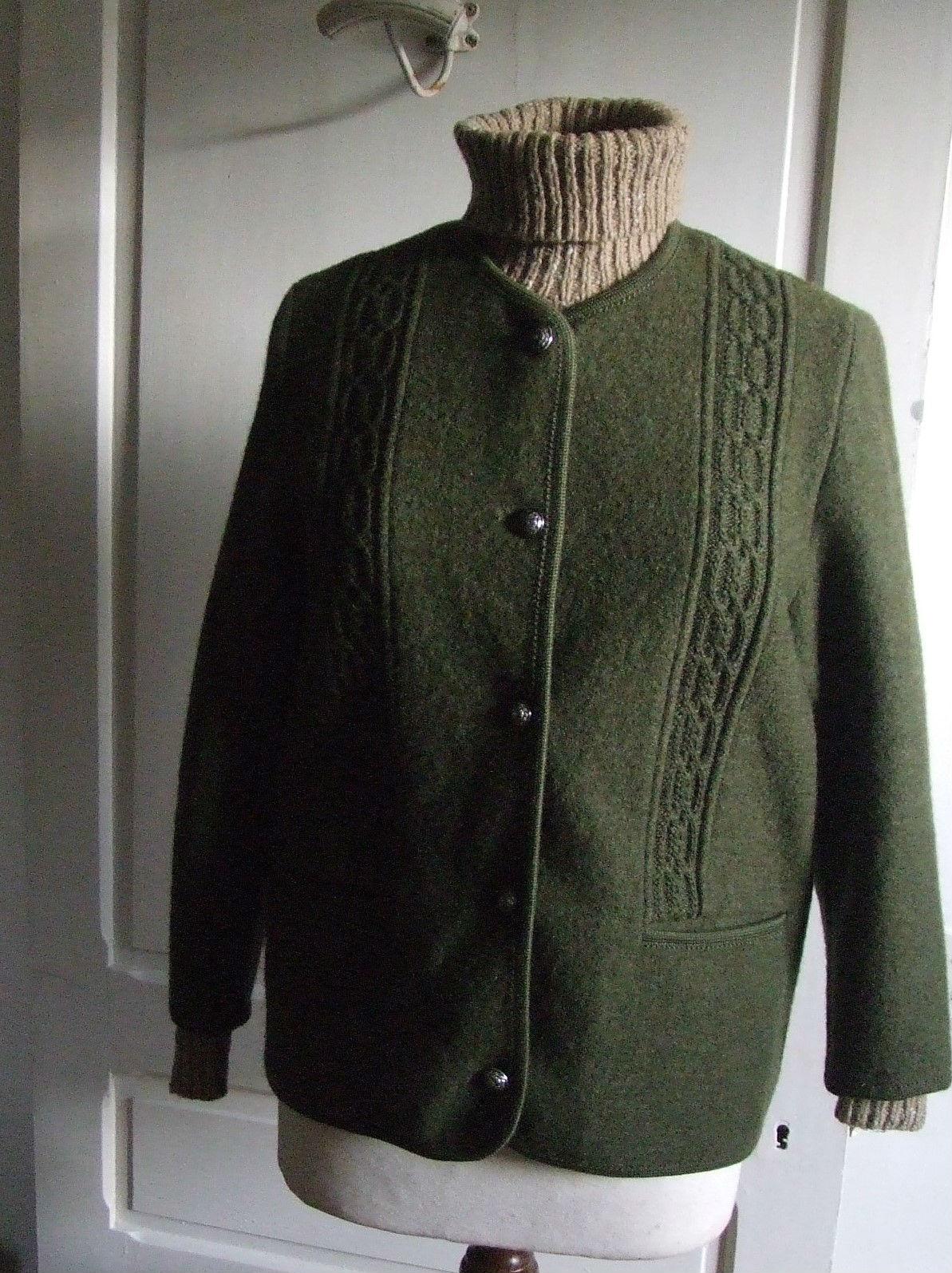 veste autrichienne en laine bouillie quiche lorraine vintage. Black Bedroom Furniture Sets. Home Design Ideas