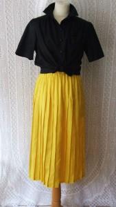 jupe plissée jaune12