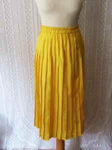 jupe plissee jaune2