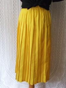 jupe plissee jaune3