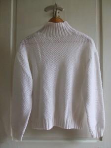 pull blanc dos