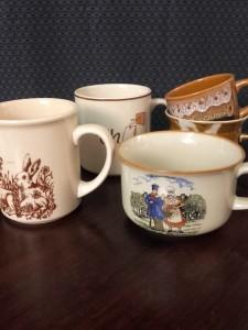mugs tasses vintage
