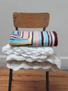 plaid crochet vintage
