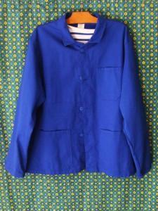 veste bleu travail homme vintage