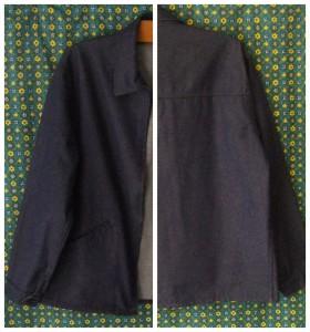 veste de travail jean bleu de travail
