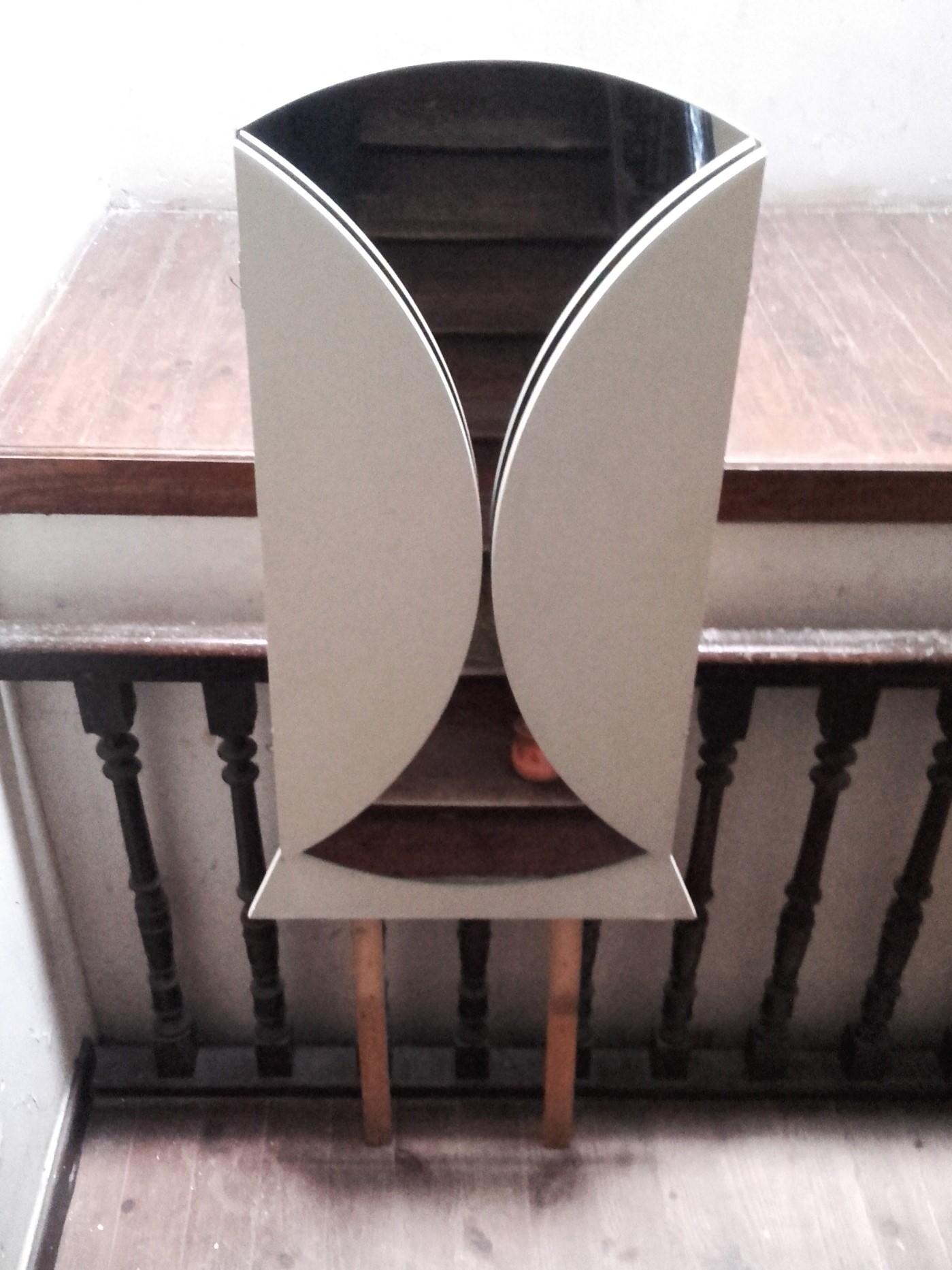 Miroir triptyque rond quiche lorraine vintage for Grand miroir triptyque