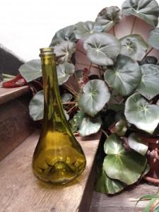 bouteille vintage verte