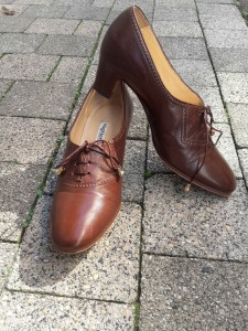 trotteurs retro marron chaussures retro