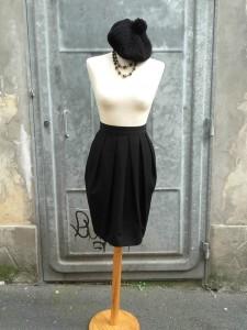 jupe boule noire