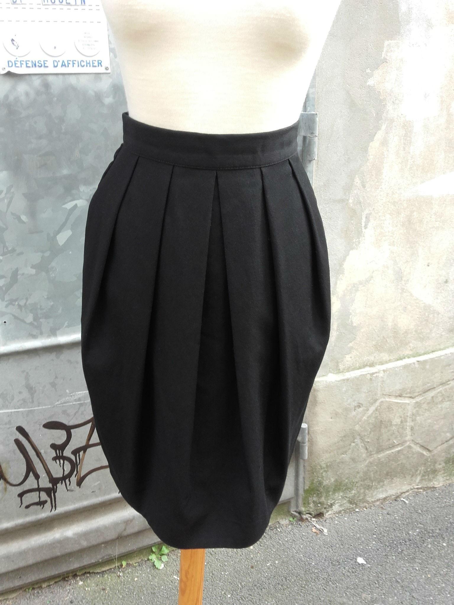 nouveau concept c3108 1c843 jupe boule noire – quiche lorraine vintage