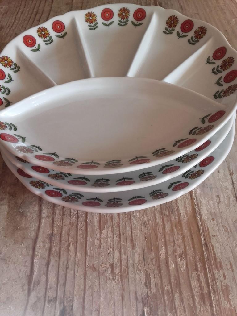 Berry Haute Porcelaine assiettes à compartiments assiette a fleur vintage