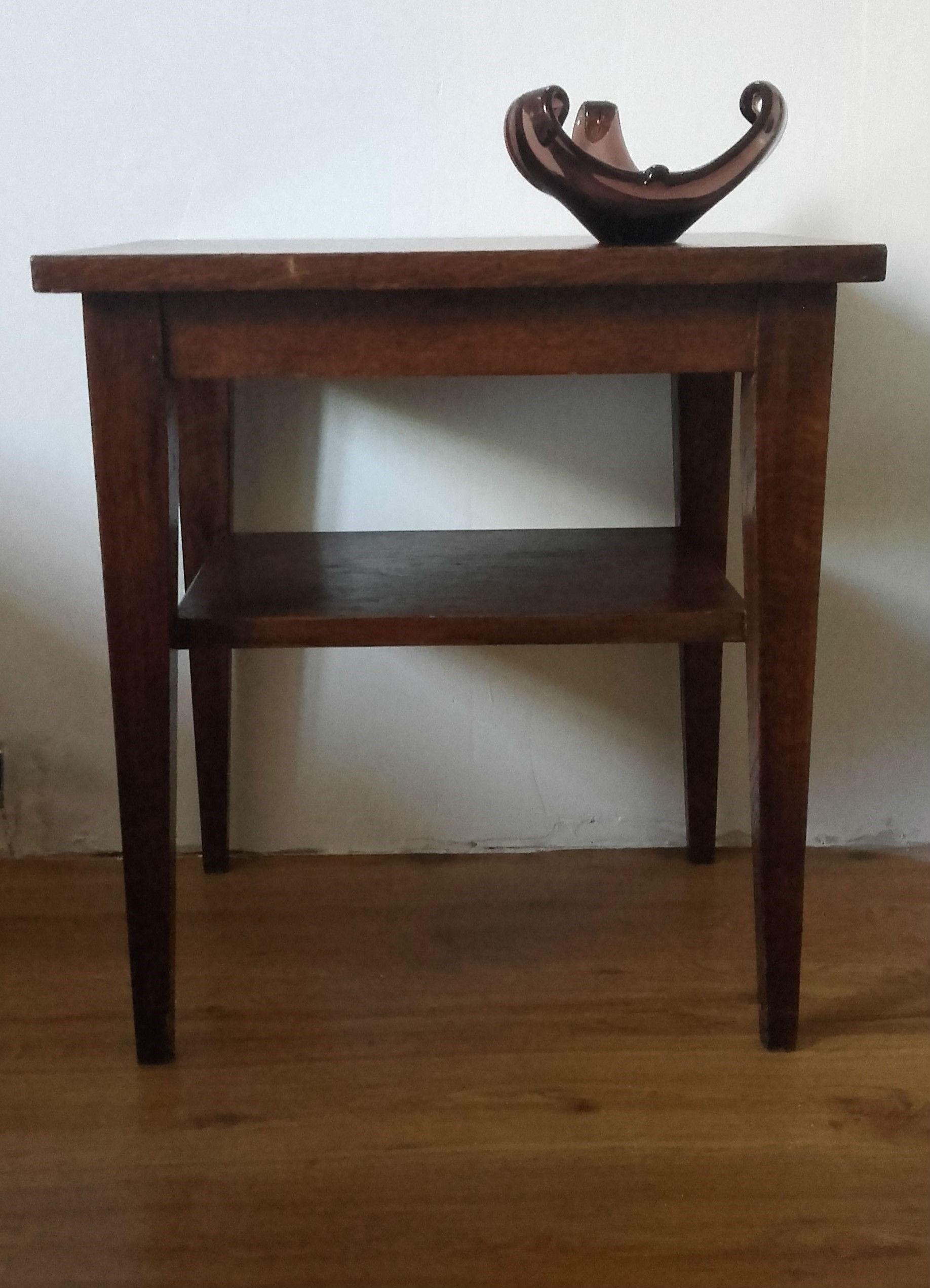 petite table chevet ann es 50 quiche lorraine vintage. Black Bedroom Furniture Sets. Home Design Ideas