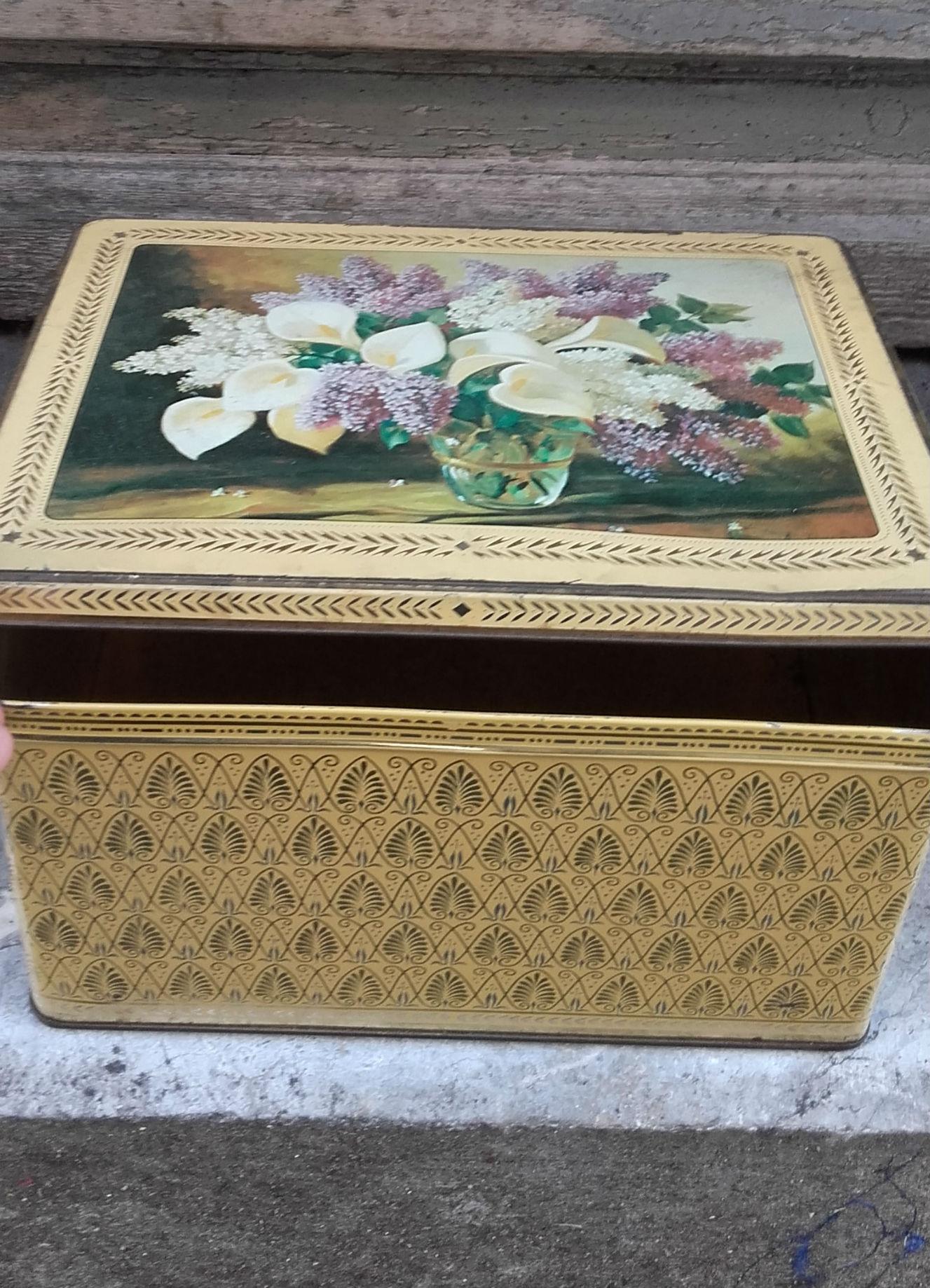 Grande boite boh me d cor fleurs quiche lorraine vintage for Decoration quiche