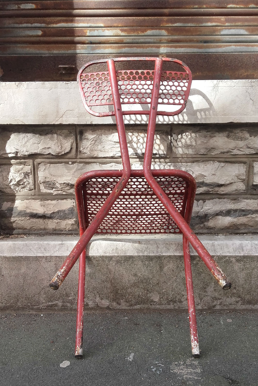 Chaise metal mategot quiche lorraine vintage - Objets vintage en ligne ...