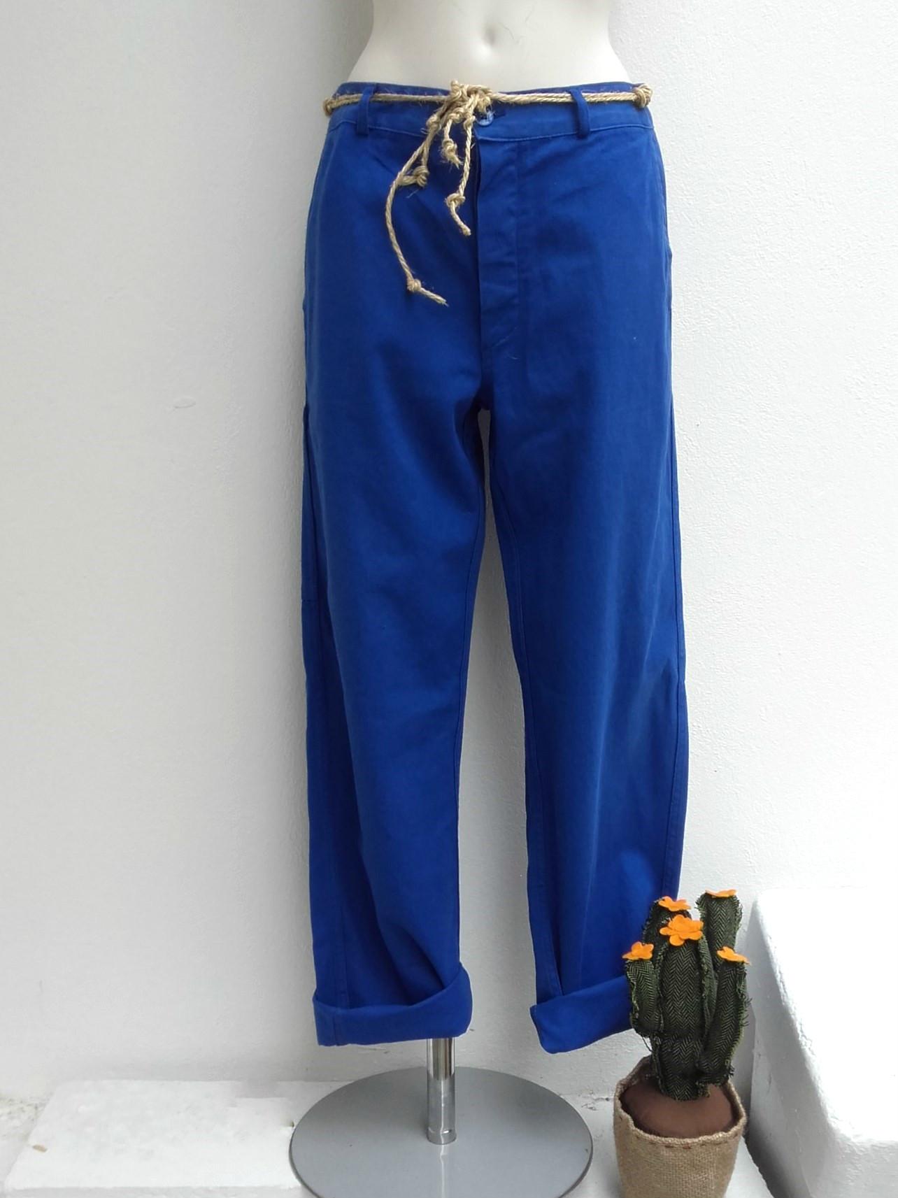 pantalon bleu de travail quiche lorraine vintage. Black Bedroom Furniture Sets. Home Design Ideas