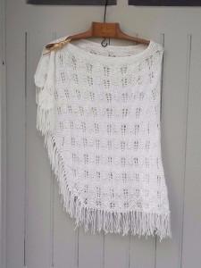 chale en coton blanc