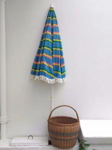 parasol vintage à rayures & franges
