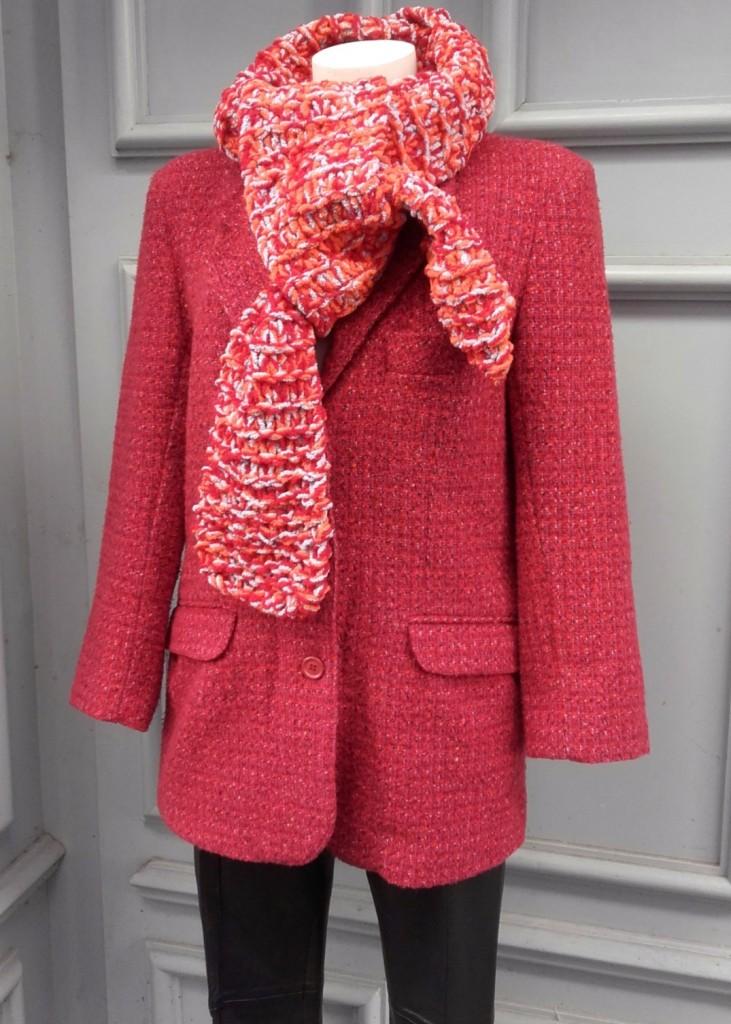 tweed framboise 42