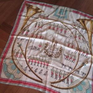 "foulard Hermès ""Sonneurs de trompe"""