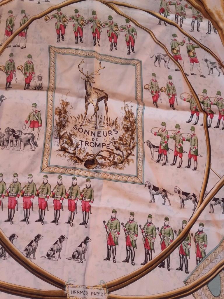 """foulard Hermès """"Sonneurs de trompes"""""""
