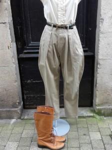 pantalon jodhpur beige