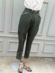 pantalon jodhpur vert