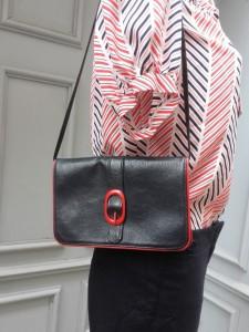 sac bleu marine & rouge
