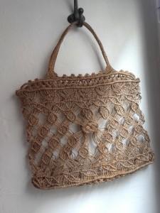 sac macramé vintage
