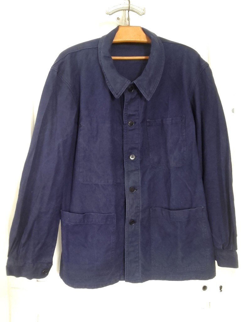 veste bleu de travail vintage workwear snc-st-james