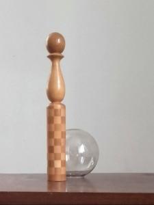 quille en bois jouet vintage