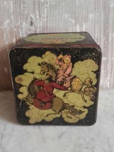 boîte à thé ancienne R.O.MENNELL antic R.O.MENNEL tea tin