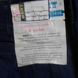 etiquette jean west 80s