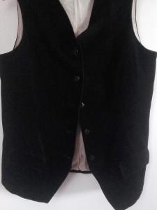 gilet velours noir 9
