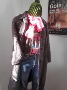 manteau vintage multicolore