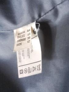 manteau multicolore etiquette