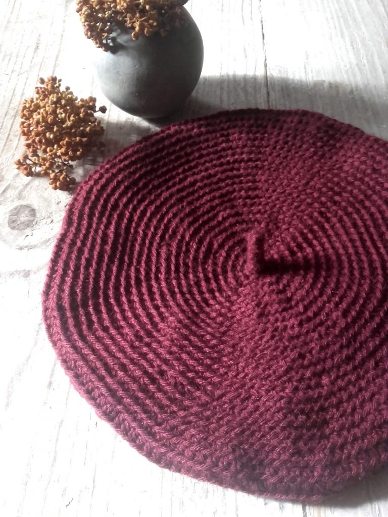 béret bordeaux crochet