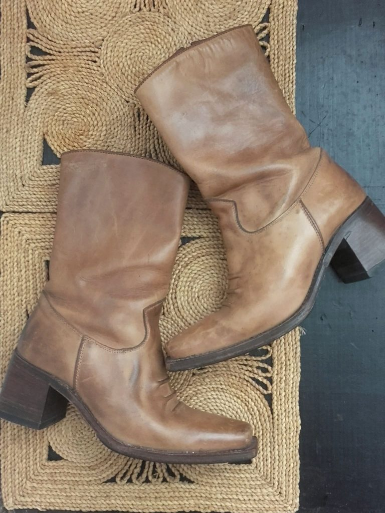 Boots vintage 70s. Folk Bohème.
