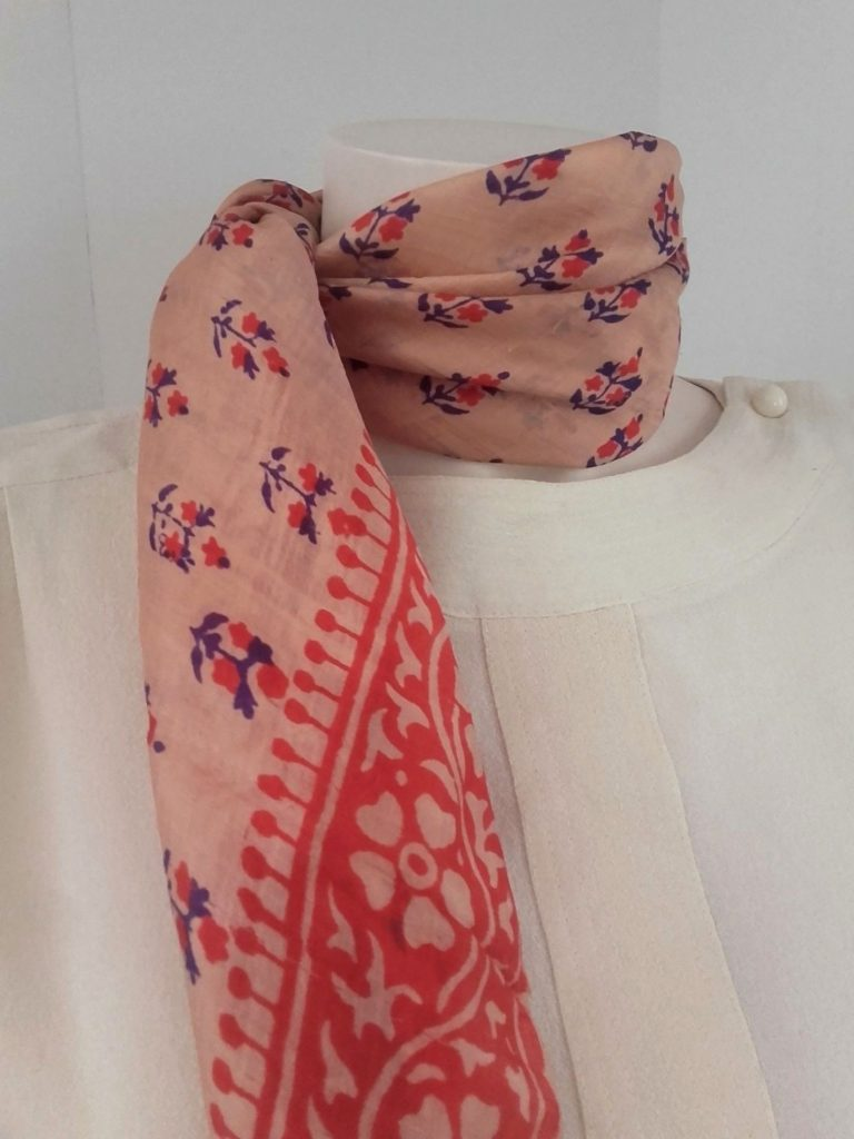 foulard soie indienne