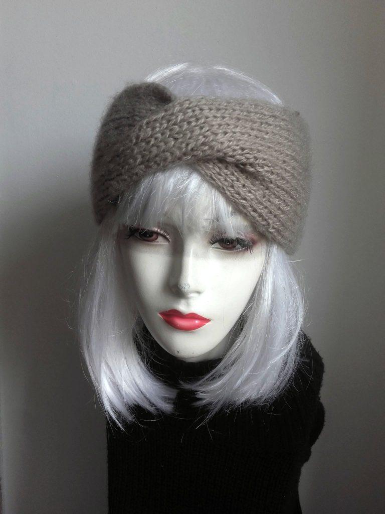 headband tricot beige