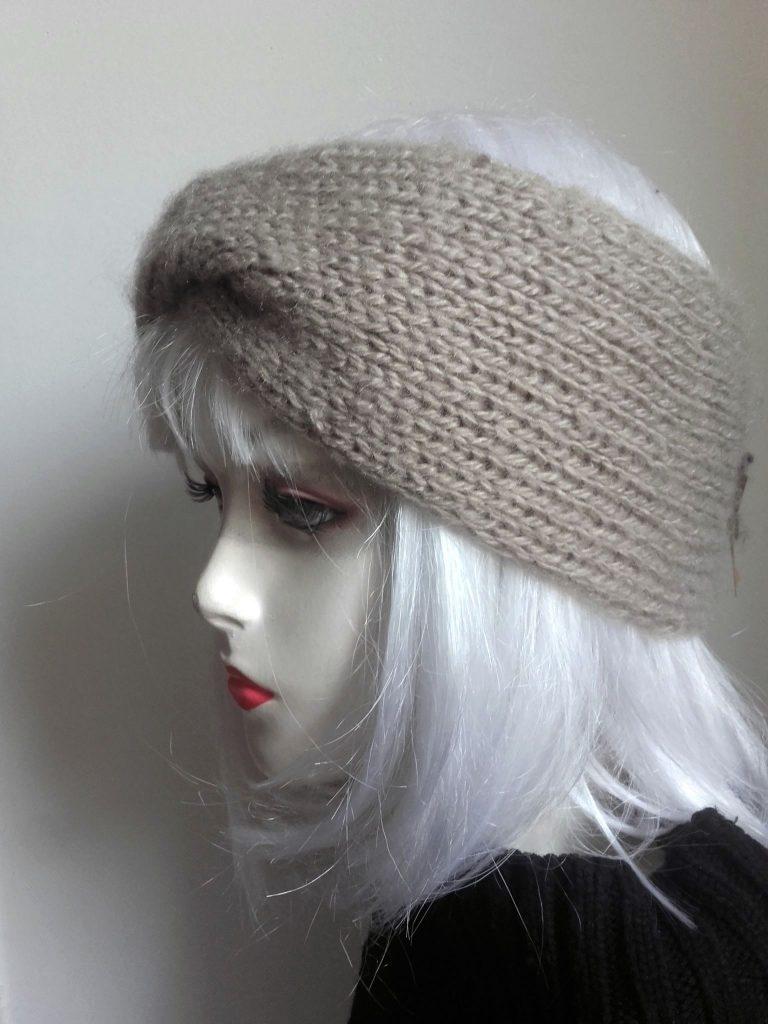 headband-bandeau-beige-bonnet-tricot vintage