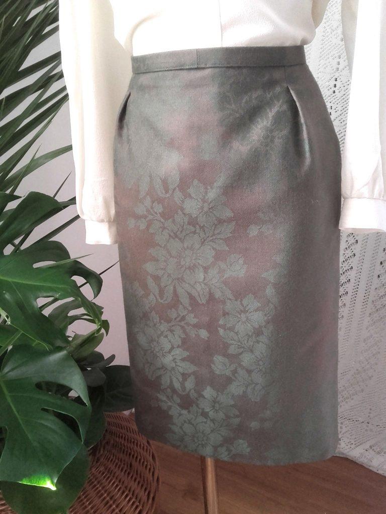 jupe droite vintage jupe à fleurs