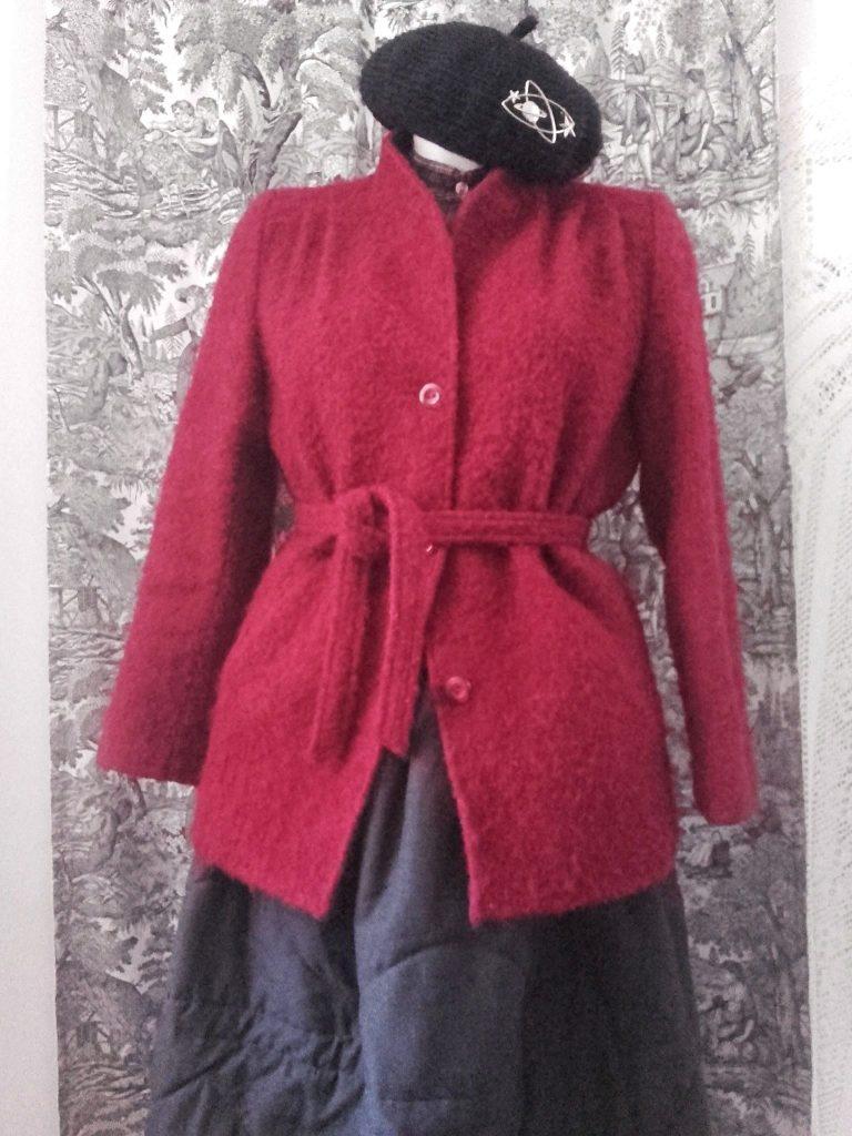 manteau bordeaux