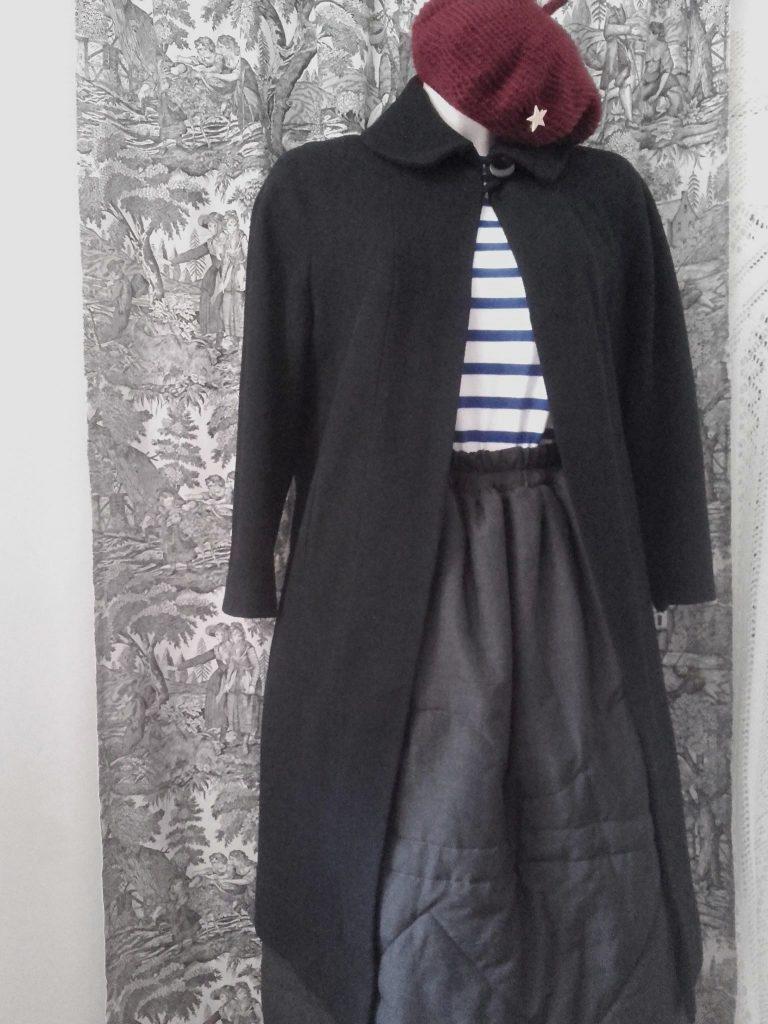manteau vintage noir black vintage coat