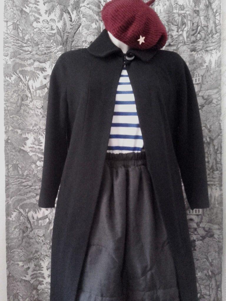 manteau vintage noir 50s vintage coat