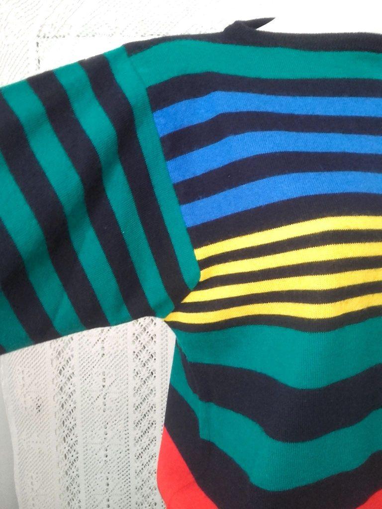 pull rayé multicolore
